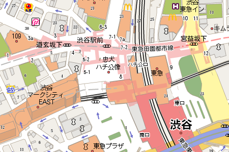new map for shibuya crossing